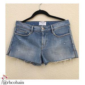 FRAME Le Studded Shorts